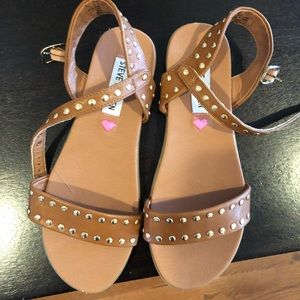 Steve Madden girls studded sandals